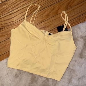 NWT Corset Style crop top